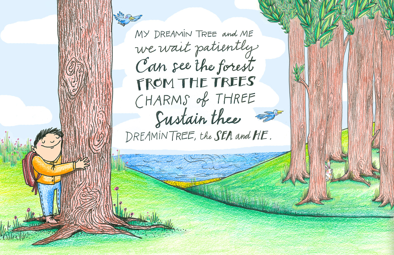 jet widick white wild indigo illustrated children's poetry book hand lettering by annie moor
