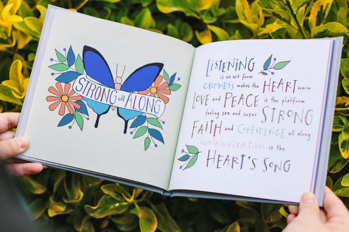 health peace love sage words illustrated poetry sage spirit poetry book jet widick hand-lettered illustrations kimberly taylor-pestell creative direction kristen alden