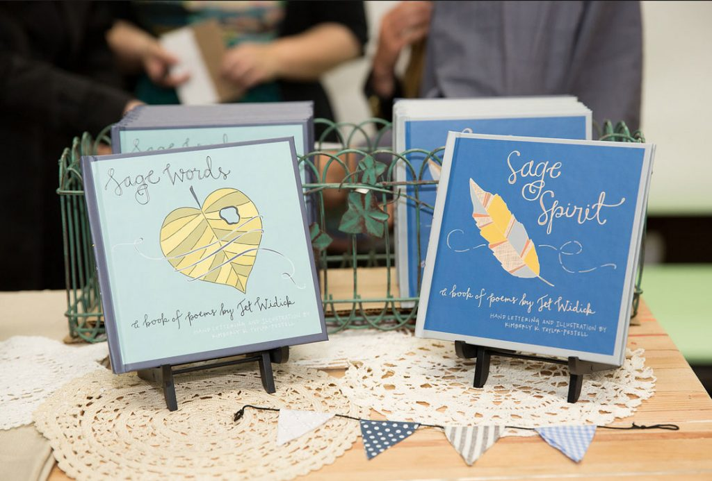 sage words sage spirit book launch hand-lettered illustrated poetry