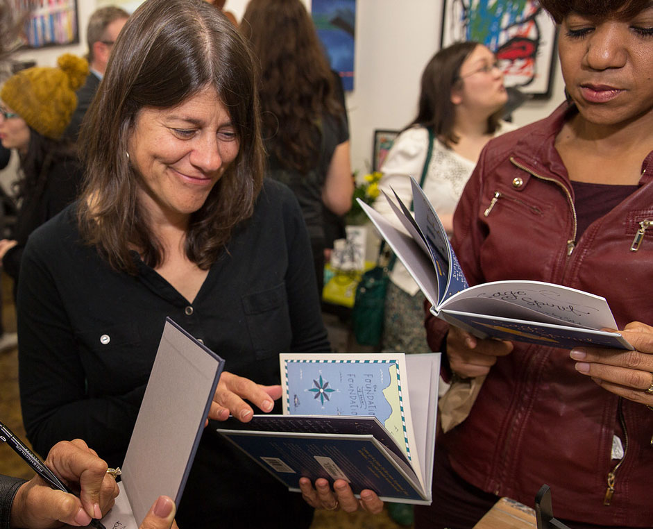 sage spirit book launch party handlettered poetry book jet widick