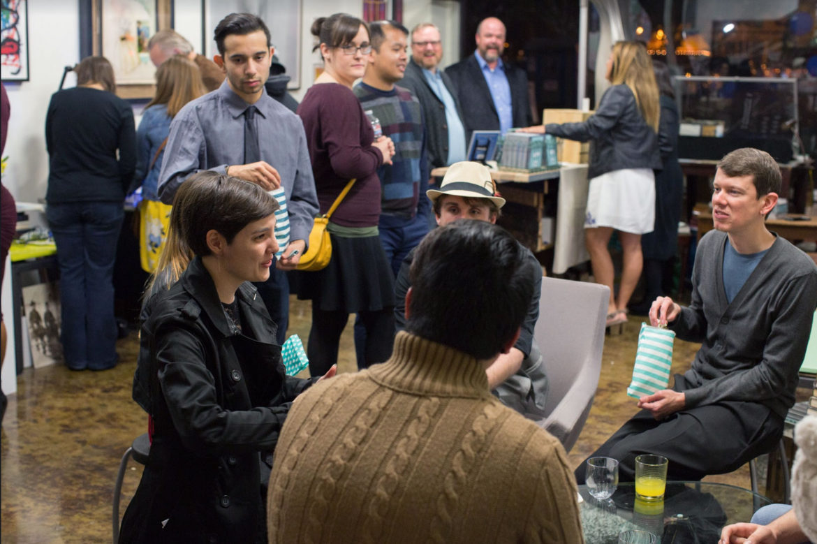 sage spirit launch party illustrated poetry book by jet widick
